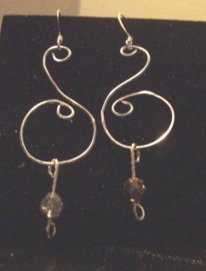 Sterling Silver/Czech Glass Earrings