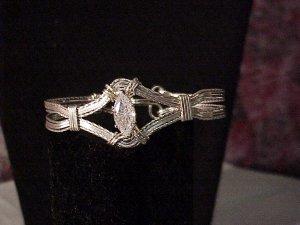 Sterling Silver Marquis Bracelet