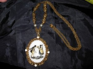 CAMEO PENDANT MARKED MADE IN WEST GERMANY