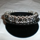 Black Diamond Swarovski Crystal Channel Bracelet