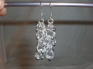 Staggered Chainmaille Earrings