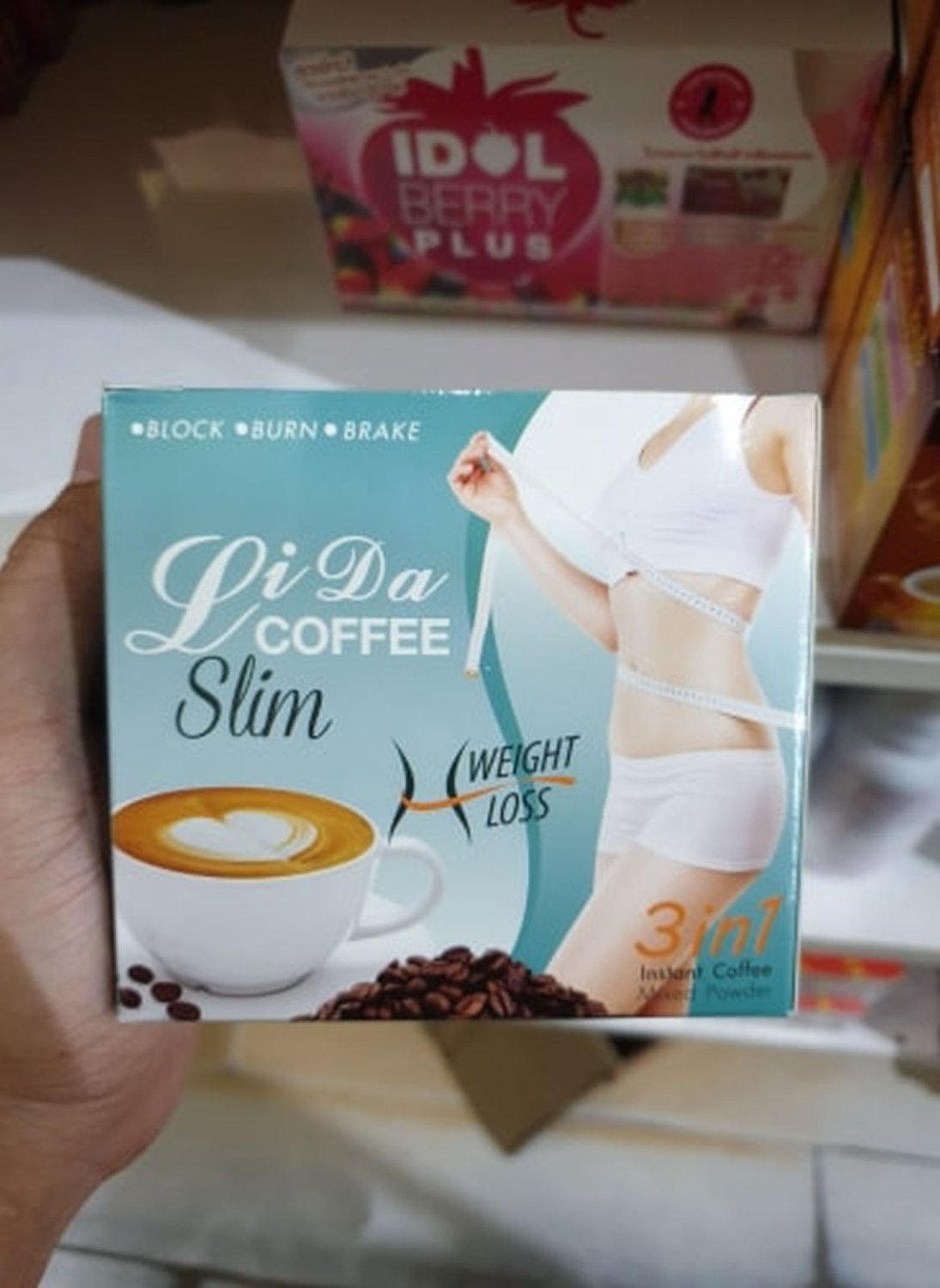 Lida Coffee 3 In1 Slim Weight Loss Firming Supplement Products 10 Sachets