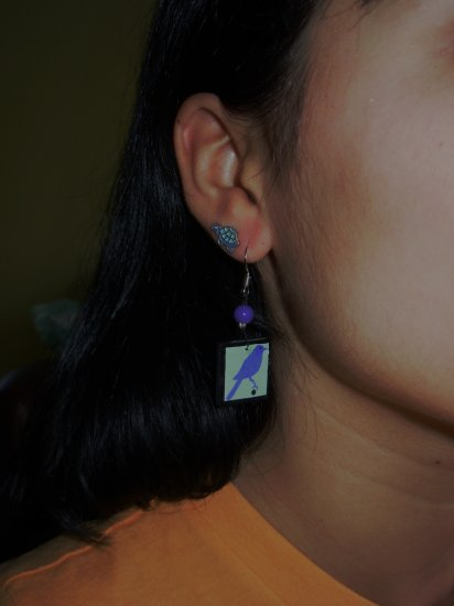 Perching Bird Earrings!!
