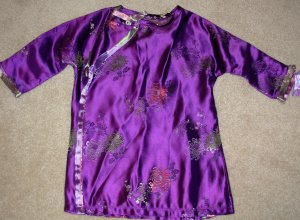 Purple childrens Kimono dress