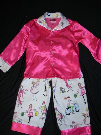 Pink Fashion Divas Childrens Pajamas
