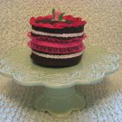 chocolate strawberry delight cake--Childrens playtime dessert