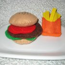 Childrens playtime Felt Burger set