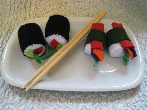 Childrens Playtime felt Sushi set