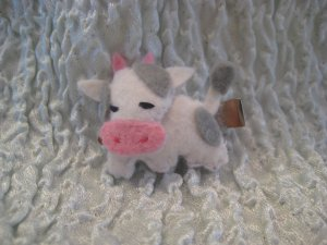 Cow Felt Barrette