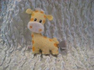 George the Giraffe Felt Barrette