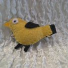 Goldfinch Felt Barrette
