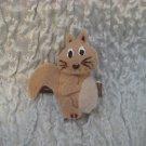 Walnut the Squirrel Felt Barrette