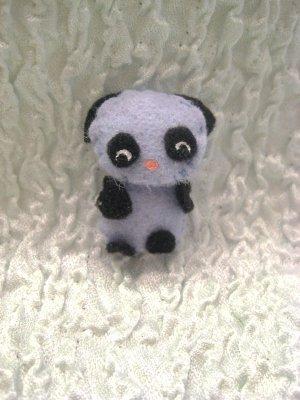 Pop the Panda Felt Barrette