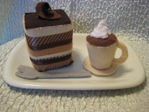 Felt Playtime ----Tiramisu and Espresso set!