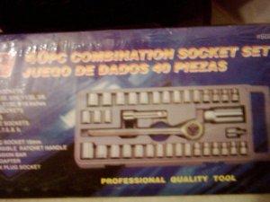 40 piece combination socket set