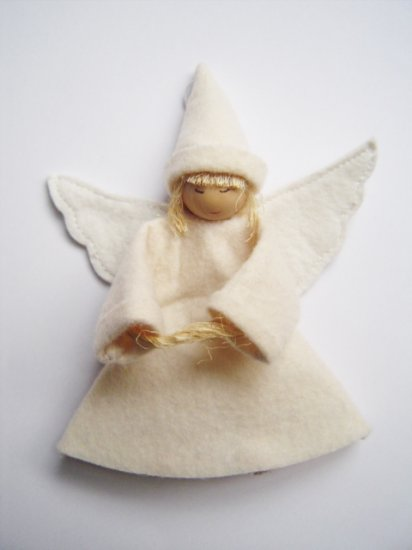 FELT ANGEL HANGER FOR X'MAS (8.5CM)