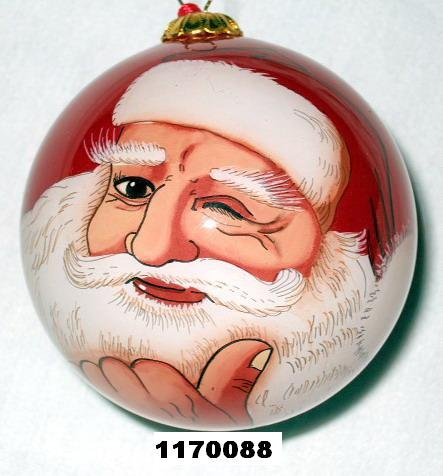 SANTA INNER-PAINTED GLASS BALLS,ITEM NO.:TP050G002