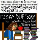ACEO Art Card TIRED TEACHER funny humor teachers teaching school writing English digital cards