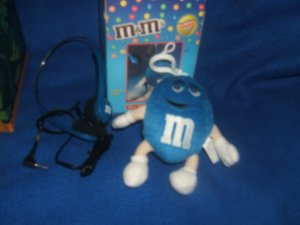 M&M Mini Plush Blue FM Radio...New In Package
