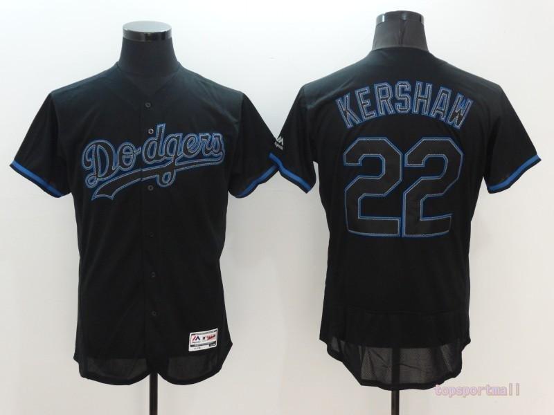 5fca7c63 Los Angeles Dodgers 22 Clayton Kershaw Black Flexbase Baseball Jersey