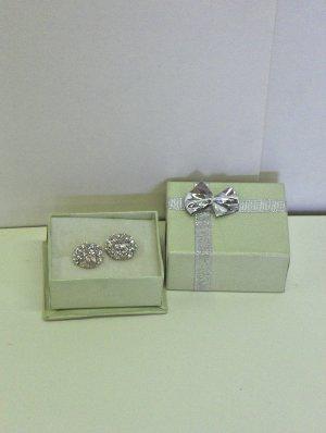 NEW - Button style Rhinestone Earrings (pierced)