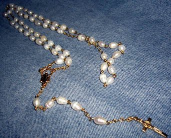 Hand Crafted Cultured Pearl Rosary
