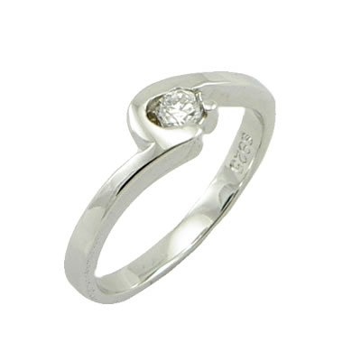 Fashion 925 Sterling Silver Ring With Natural  Diamond