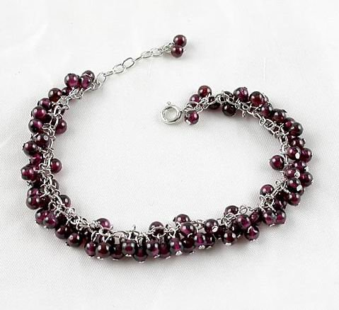 Brand 'LIYING' 925 Sterling Silver Bracelet With Natural Ruby