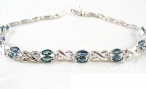 Brand 'LIYING' 925 Sterling Silver Bracelet With Excellent Natural  Emerald