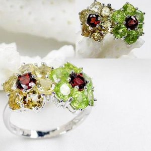 Brand 'LIYING' 925 Sterling Silver Lovers'  Rings  With Natural Diamond