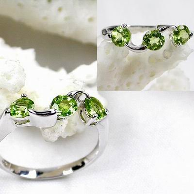 Brand 'LIYING' 925 Sterling Silver Ring with Nature Diamond