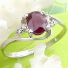 Brand 'LIYING' 925 Sterling Silver Ring with Nature Ruby