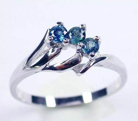 Brand 'LIYING' 925 Fashion Sterling Silver Ring with Nature Blue Diamond