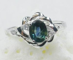 Brand 'LIYING' 925 Sterling Silver Ring with Nature Blue Diamond
