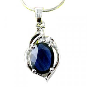 Brand 'LIYING' 925 Sterling Silver Pendants with Nature Blue Diamond