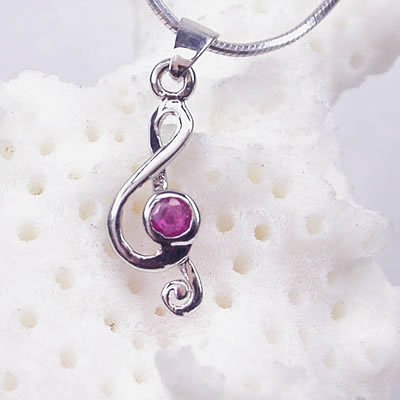 Brand 'LIYING' Fashion 925 Sterling Silver Pendant with Natural Ruby