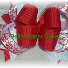 Santa Layered Bow
