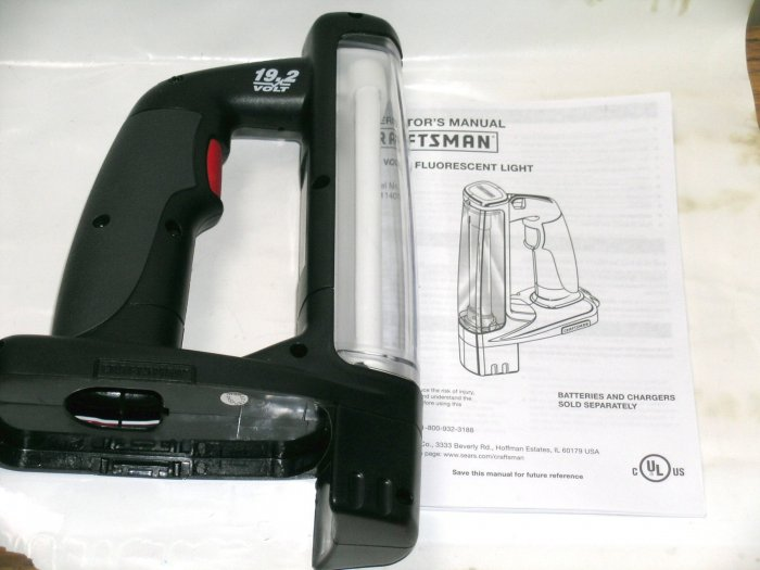 NEW! Craftsman SEARS C3 19.2 Volt fluorescent lamp lantern light. EX, Diehard.Battery NOT included
