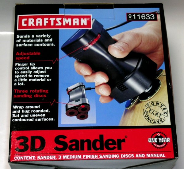 NEW! Craftsman SEARS 3D 3-D sander radius arc polishing NIB!