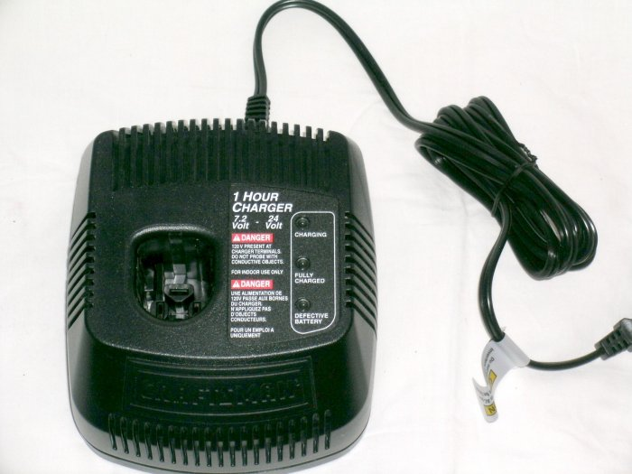 NEW! Craftsman SEARS 7.2 19.2 24 Volt battery charger 1425301 EX Diehard C-3 battery systems