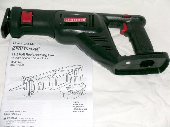 NEW! Craftsman SEARS 19.2V Volt reciprocating saw VS #114270 EX Diehard C-3 battery systems
