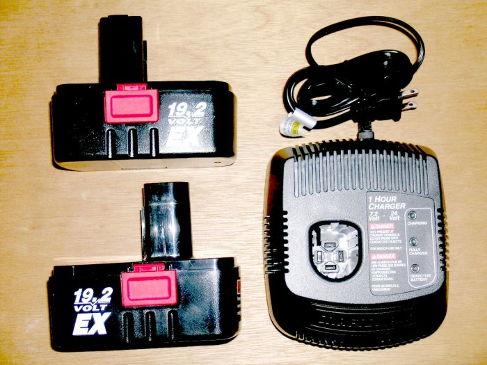 NEW! 2 pack with Charger Craftsman SEARS 19.2V Volt battery EX #1323903 EX Diehard C-3 battery