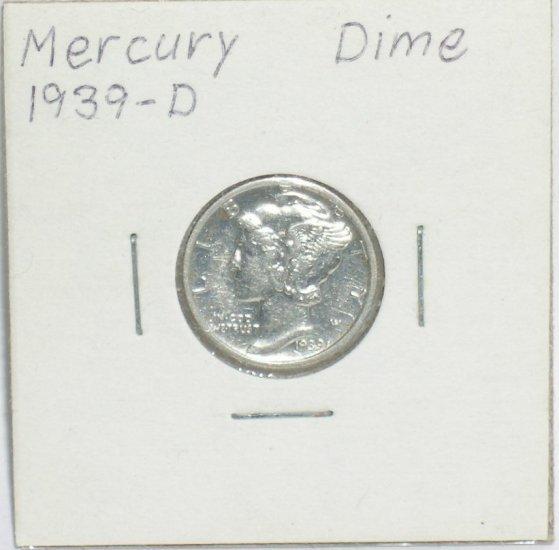 �Mercury' Dime 10 ¢ 1939-P  90 % silver US Coins