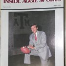 Jackie Sherrill Texas A&M Football Inside Aggie Sports Vol IV, No VIII  August 1982