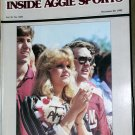 Jackie Sherrill RC Slocum Texas A&M Football Inside Aggie Sports November 20, 1982 Vol IV No. XVII