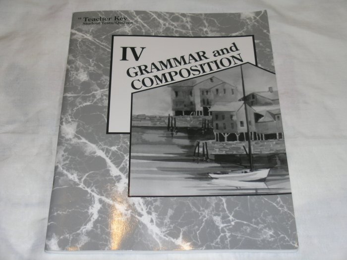 Homeschool Abeka Grammar and Composition IV 10th Grade