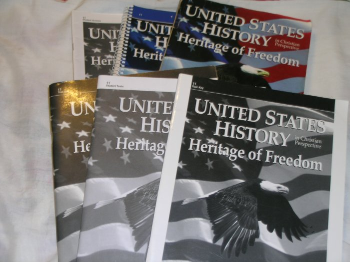 Homeschool Abeka U.S. History Heritage of Freedom Grade 11 (Complete set of 6)