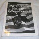 Homeschool Abeka U.S. History Heritage of Freedom Grade 11 2nd ed Quiz Key