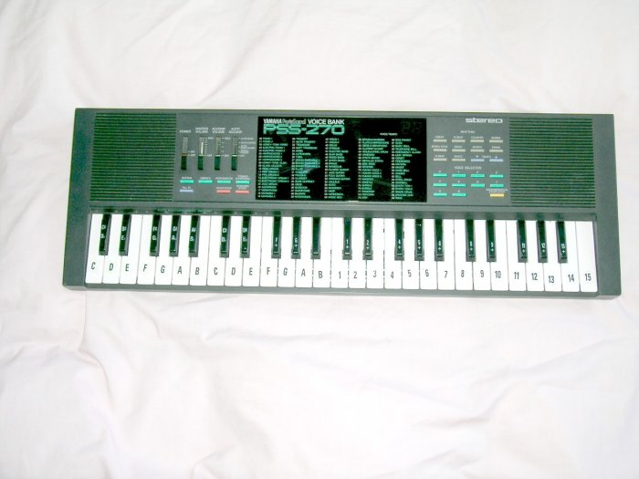 Vintage Yamaha PortaSound PSS-270 Voice Bank Keyboard Circuit bending Original owner