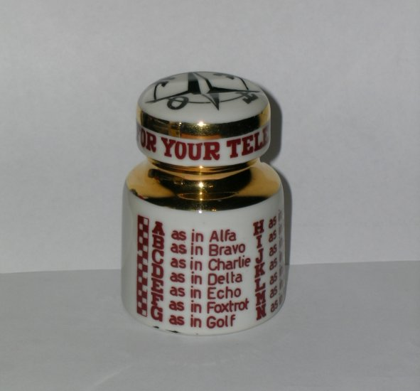 Fornasetti Decorated Insulator NATO Messages